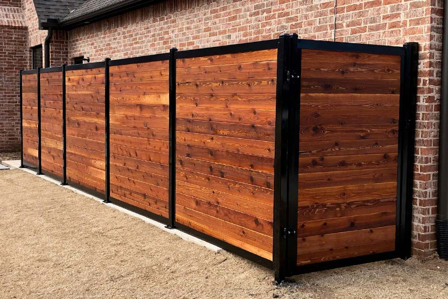 Stained FenceTrac Fence