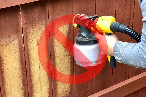 Fence Stain With Sprayer