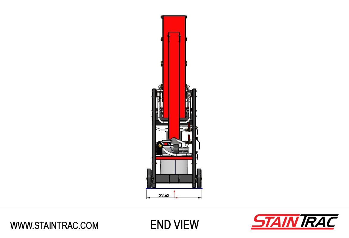 StainTrac End View Folded