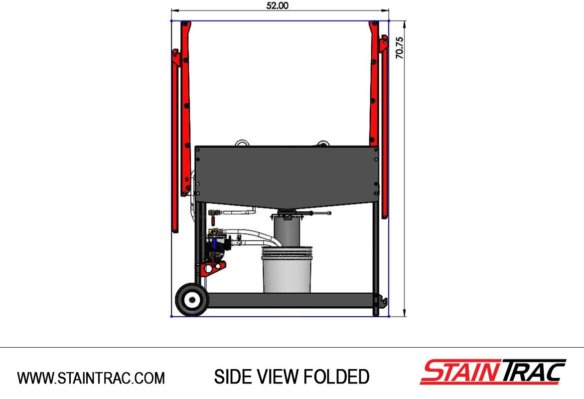 StainTrac Side View Folded