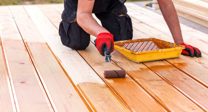 Staining Deck Boards With Roller